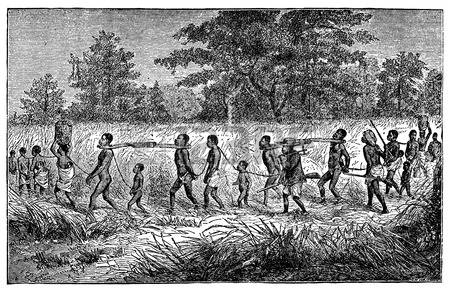 42495226-incisione-vittoriana-di-schiavi-africani-indigeni-e-schiavisti